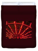 Red Abstract Carnival Lights Duvet Cover