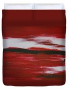 Red Abstract Duvet Cover
