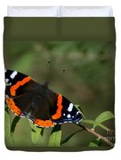 Red Admiral Butterfly  Duvet Cover