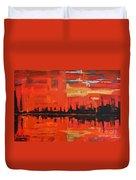 Red Amazon Sunset Duvet Cover