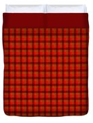 Red And Black Checkered Tablecloth Cloth Background Duvet Cover