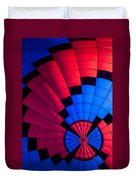 Red And Blue Pattern Duvet Cover