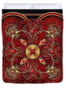 Red And Gold Celtic Cross Duvet Cover