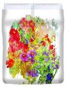 Red And Purple Calibrachoa - Digital Paint II Duvet Cover