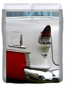 Red And White 1955 Chevy Duvet Cover