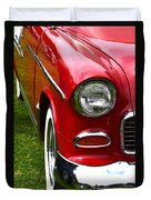 Red And White 50's Chevy Duvet Cover