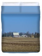 Red And White Barns Duvet Cover