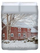 Red And White Duvet Cover