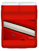 Red And White Ranchero Duvet Cover