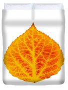 Red And Yellow Aspen Leaf 6 Duvet Cover