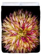 Red And Yellow Dahlia Duvet Cover