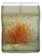 Red And Yellow Desert Color Duvet Cover