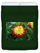 Red And Yellow Flower Duvet Cover