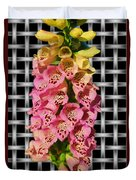 Red And Yellow Hollyhocks Duvet Cover