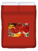 Red And Yellow Peppers Duvet Cover