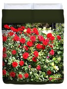 Red And Yellow Roses Duvet Cover