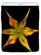 Red And Yellow Spiked Tulip Duvet Cover