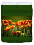 Red And Yellow Tulips II Duvet Cover