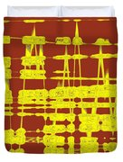 Red And Yellow Wave No 3 Duvet Cover