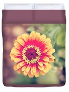 Red And Yellow Zinnia II Duvet Cover
