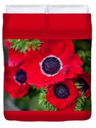 Red Anemone. Flowers Of Holland Duvet Cover