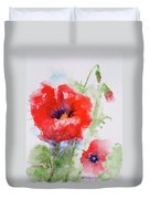 Red Anemones Duvet Cover