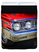 Red Antique Car Duvet Cover