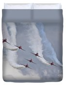 Red Arrows Roll Left Duvet Cover