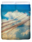 Red Arrows Smoke The Skies Duvet Cover