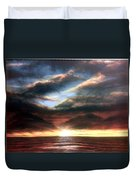 Red At Night Duvet Cover