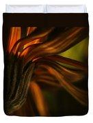 Red Autumn Blossom Detail Duvet Cover