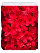 Red Azalias Duvet Cover