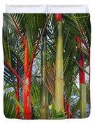 Red Bamboo Duvet Cover