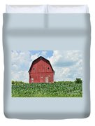Red Barn And New Corn Duvet Cover