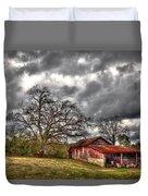 Red Barn On The Boswell Farm Duvet Cover