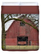 Red Barn Series Picture C Duvet Cover