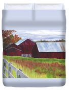 Red Barns At Freehold Duvet Cover