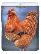 Red Baron Rooster Duvet Cover