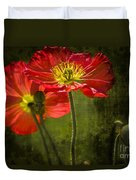 Red Beauties In The Field Duvet Cover