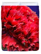 Red Beauty Carnation Duvet Cover