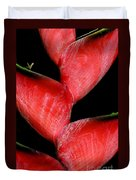 Red Beauty - Heliconia Duvet Cover