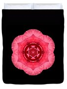 Red Begonia I Flower Mandala Duvet Cover