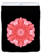 Red Begonia II Flower Mandala Duvet Cover