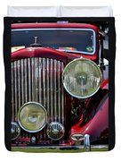 Red Bentley Grill Duvet Cover