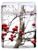 Red Berry Sprig Duvet Cover