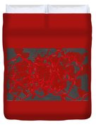 Red Black White Expressions Scramble  Black Red Duvet Cover