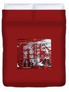 Red Black White Duvet Cover