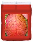 Red Blackberry Leaf Duvet Cover