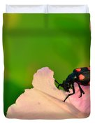 Red Blister Beetle Duvet Cover