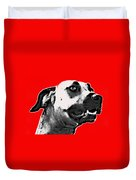 Red Blooded Scooby Dog Duvet Cover